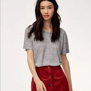 Wilfred Free Aritzia Divina Gray Tee Shirt  XS NWT